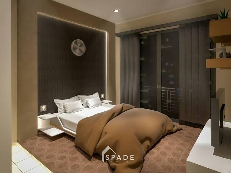Kamar tidur utama:  Bedroom by SPADE Studio Indonesia