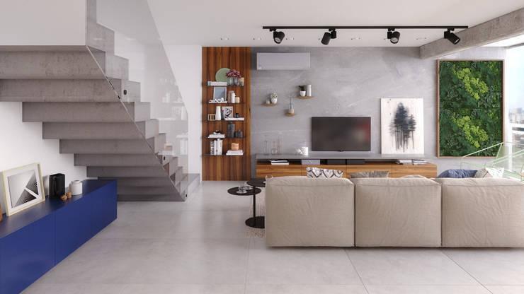 by Ana Guedelha Arquitetura e Interiores Industrial Concrete