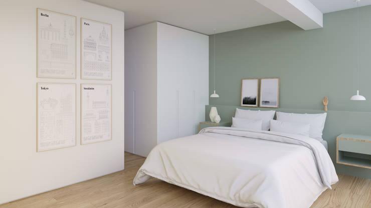 Scandinavian style bedroom by Ana Guedelha Arquitetura e Interiores Scandinavian