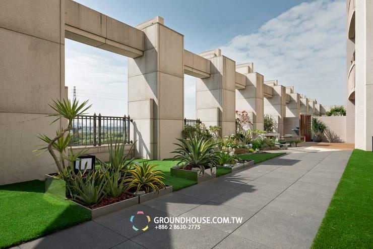 龍舌蘭與蘆薈都屬於好照顧的植物:  花園 by 大地工房景觀公司