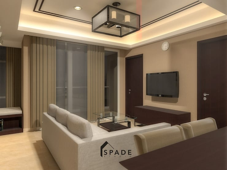Kensington's Unit Apartment Kelapa Gading:  Ruang Keluarga by SPADE Studio Indonesia
