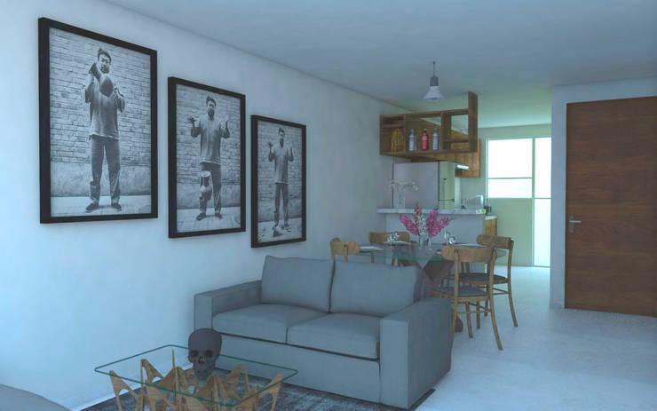 Living room by Creer y Crear. Arquitectura/Diseño/Construcción