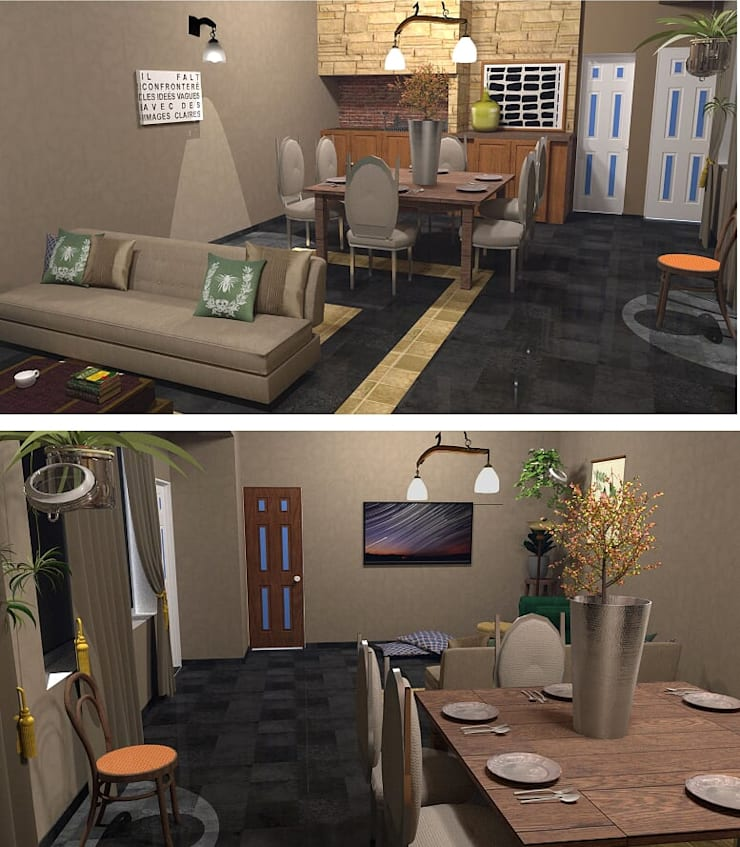 Renders: Livings de estilo  por Se Camper Design,