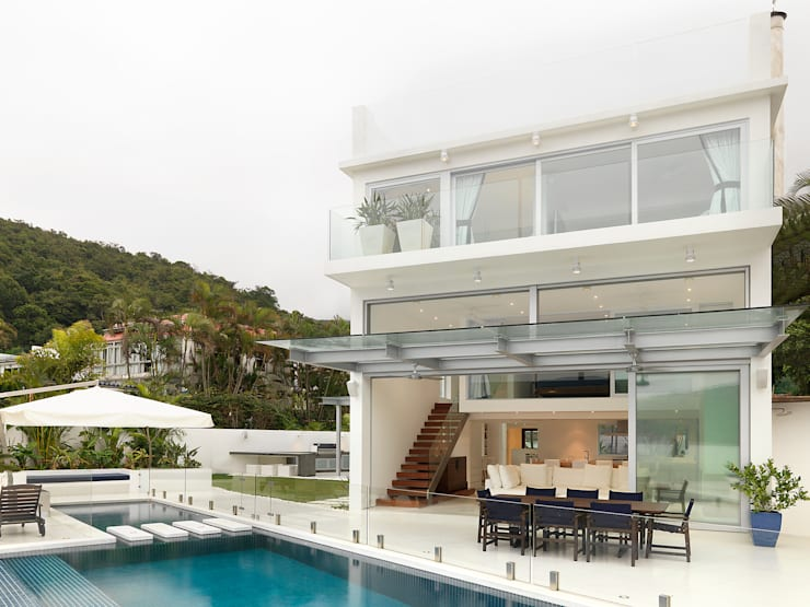 Water Front House—Clearwater Bay:  Pool by Original Vision, Modern