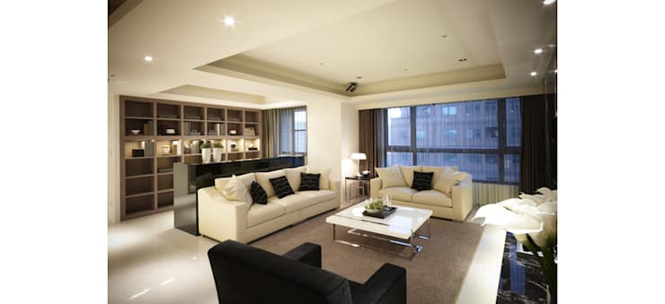 開放式客廳:  客廳 by 鼎爵室內裝修設計工程有限公司