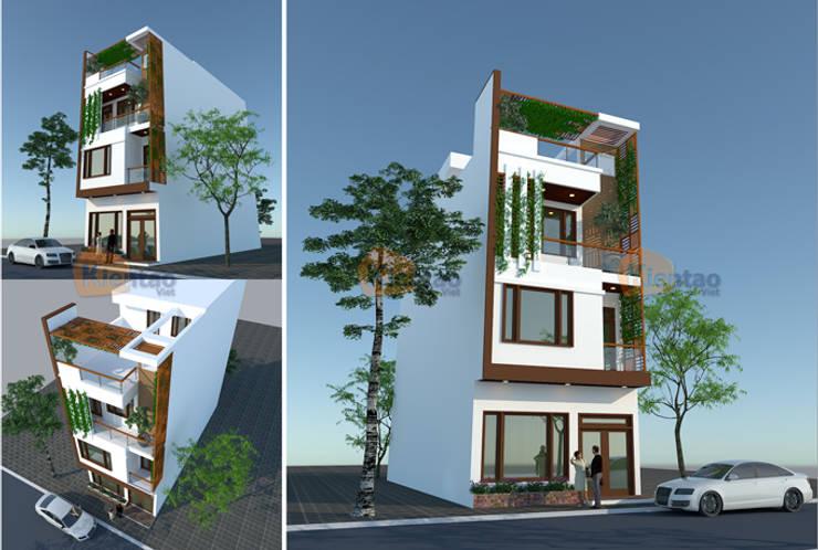 Thiết kế nhà phố 4 tầng tại Lê Trọng Tấn – HN – NP138:  Biệt thự by CÔNG TY CỔ PHẦN XD&TM KIẾN TẠO VIỆT