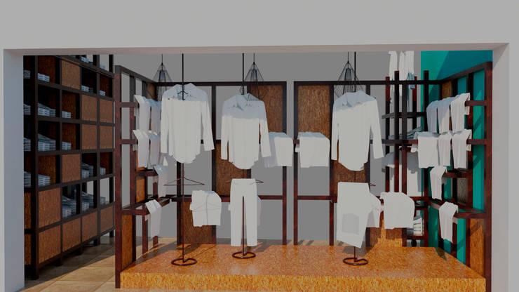 Vista de la vidriera: Oficinas y locales comerciales de estilo  por Arq. Melisa Cavallo,