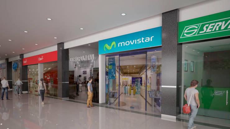 Remodelación de halls centro comercial Iserra 100:  de estilo  por Arq. Esteban Correa,