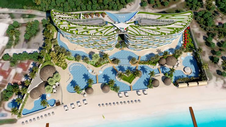 Hotel Cancun:  de estilo  por Arq. Esteban Correa