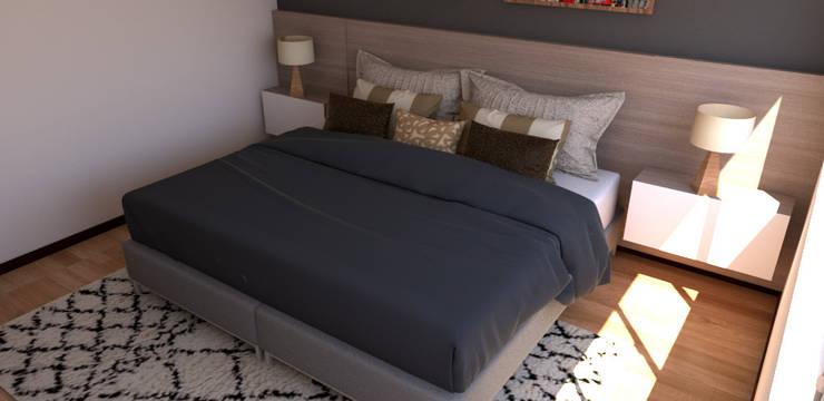 Habitación acogedora : Habitaciones pequeñas de estilo  por Naromi  Design