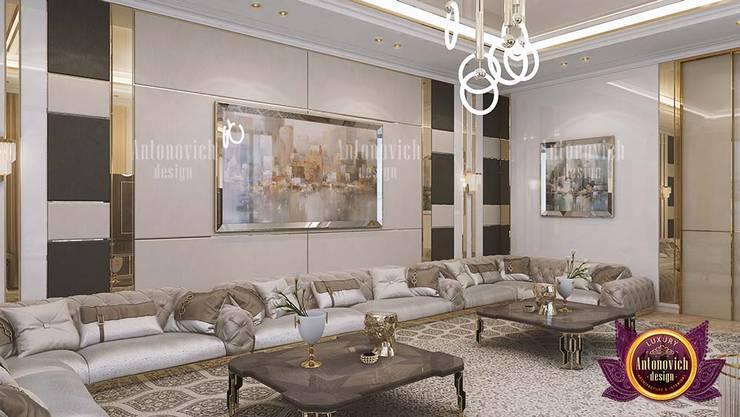 Vibrant Dreamy Luxury Living Room:   by Luxury Antonovich Design