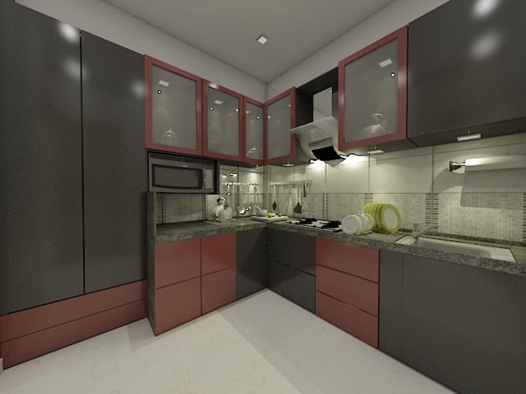 Kitchen:  Small kitchens by Peak Interior