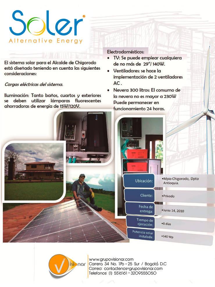 PLANTA SOLAR: Casas ecológicas de estilo  por SOLER Alternative Energy,