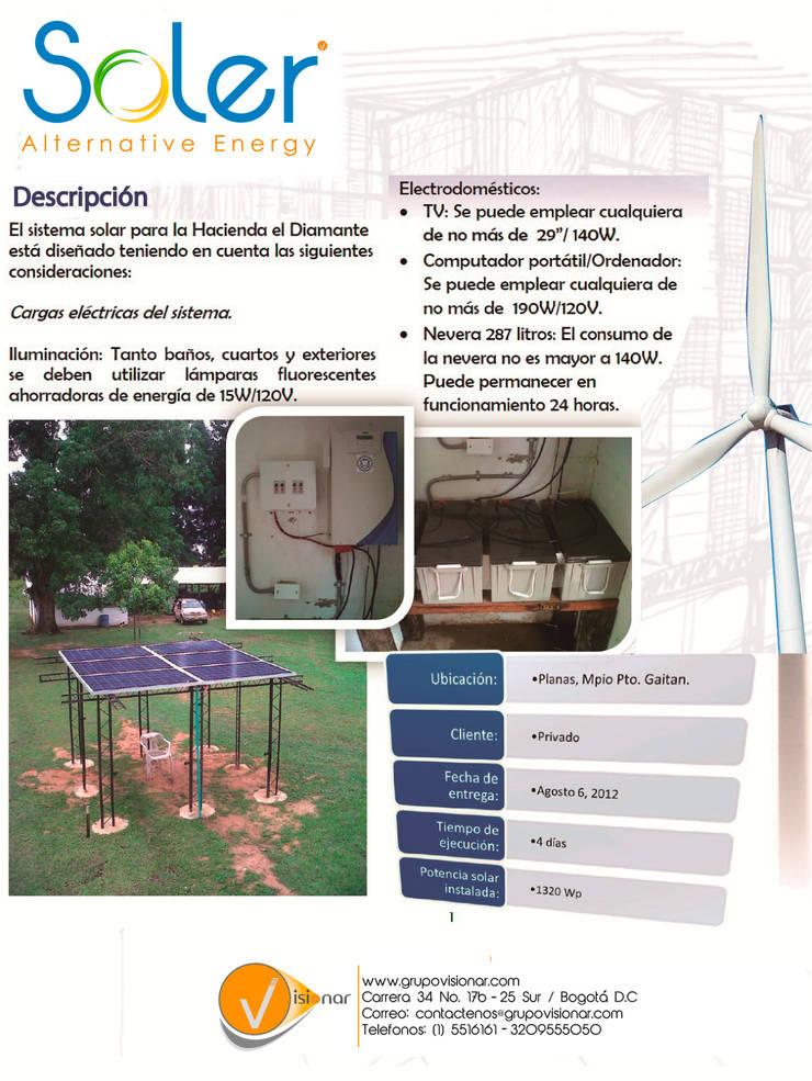 PLANTA SOLAR: Jardines frontales de estilo  por SOLER Alternative Energy,