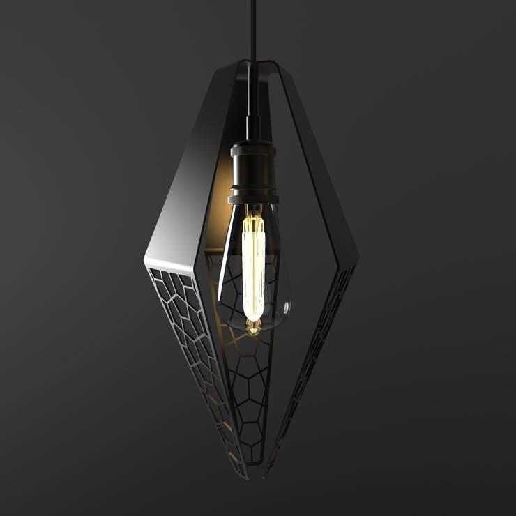 Lámpara Colgante Ceae: Estudio de estilo  por Cubeconcept.studio