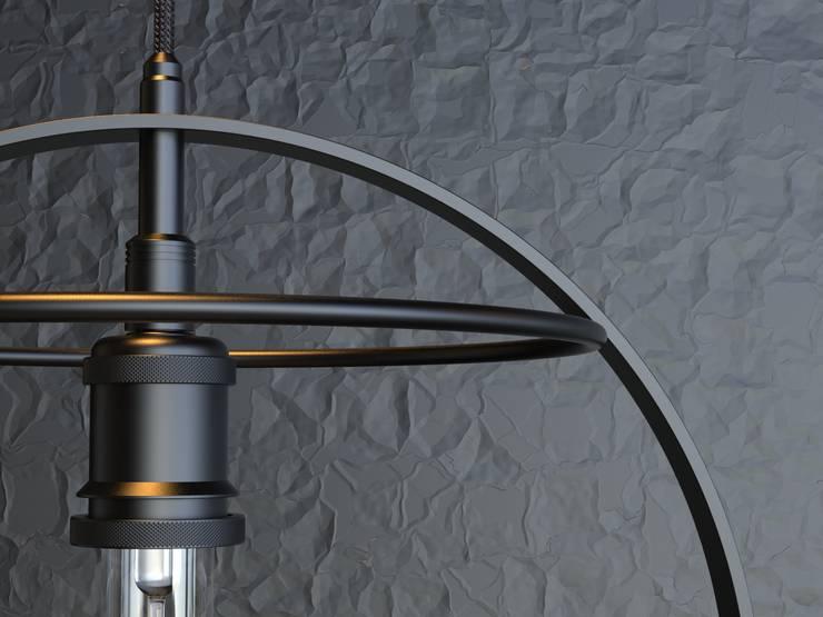 Lámpara Colgante Tara: Estudio de estilo  por Cubeconcept.studio