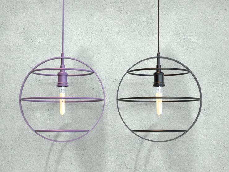 Lámpara Colgante Tara: Dormitorios de estilo  por Cubeconcept.studio