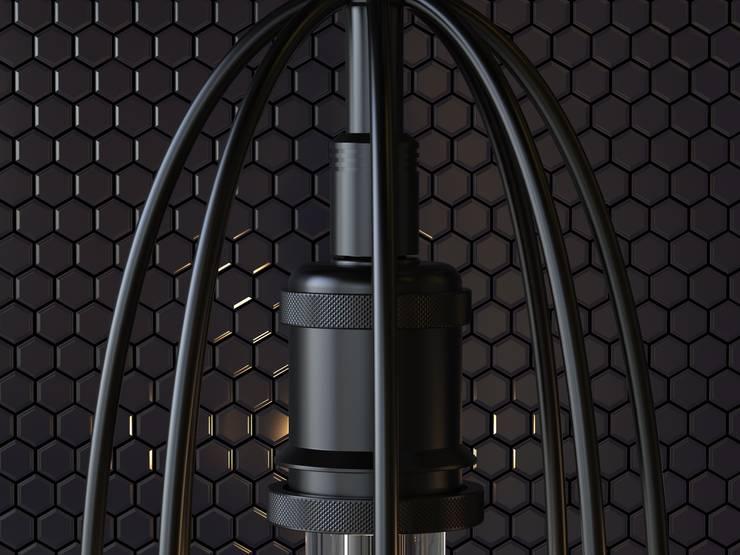 Lámpara Colgante Orquidea: Dormitorios de estilo  por Cubeconcept.studio