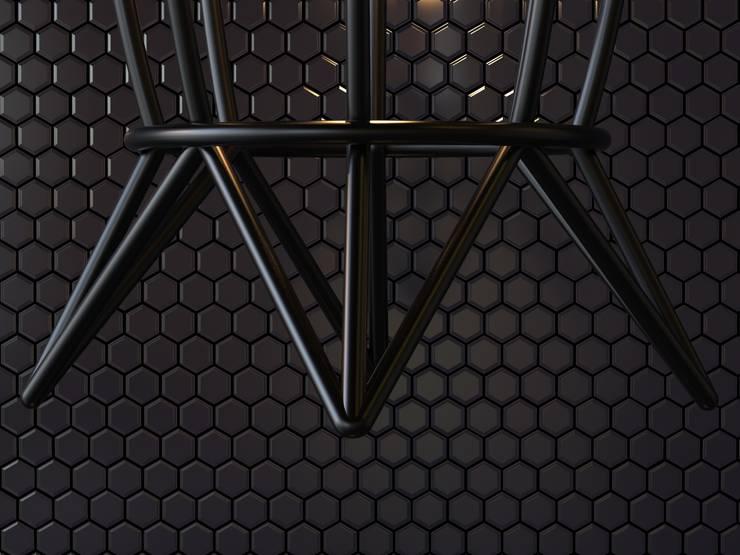 Lámpara Colgante Orquidea: Estudio de estilo  por Cubeconcept.studio