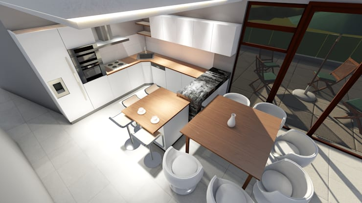 HOUSE MONTGOMERY:  Kitchen by NDLOVU DESIGNS
