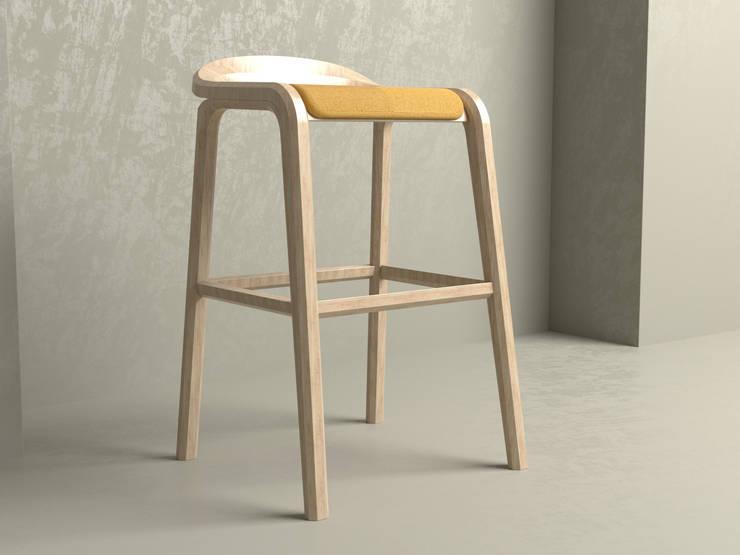 Butaco Elapsis: Balcones y terrazas de estilo  por Cubeconcept.studio,