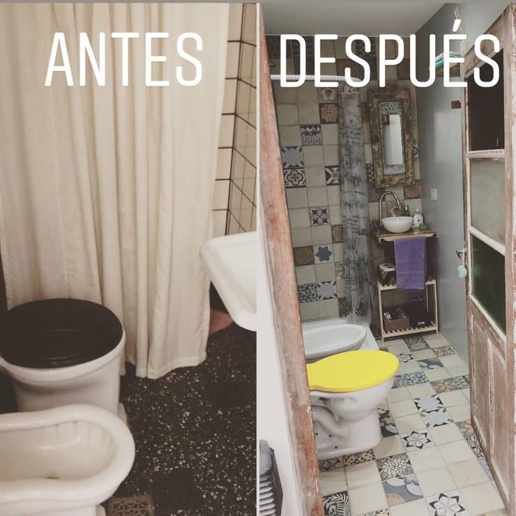 Refacción y Diseño de interiores: Baños de estilo  por Delgado+Pittaluga,