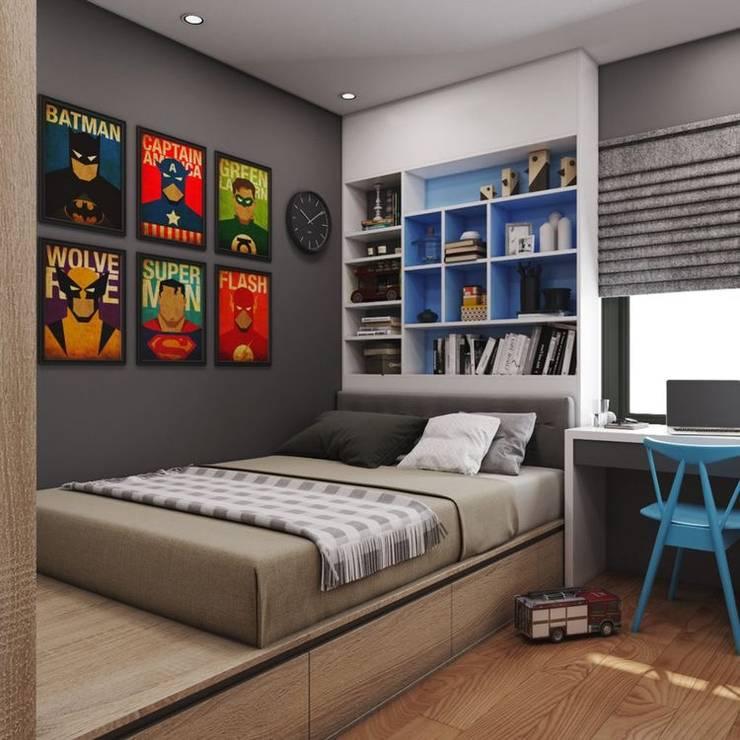 HABITACIÒN JUVENIL : Dormitorios de estilo  por Gallo Rosa S.A.S