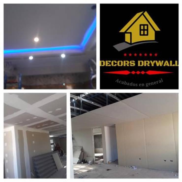 TRABAJOS EN SISTEMA DRYWALL: Espacios comerciales de estilo  por decors drywall,
