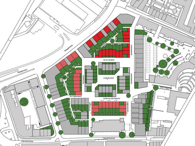 Woningbouw Lindenkruis Fase 1, Maastricht:  Eengezinswoning door Verheij Architecten BNA, Modern