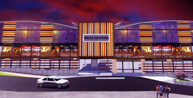 Vista frontal: Salones de eventos de estilo  por VyMarquitectos