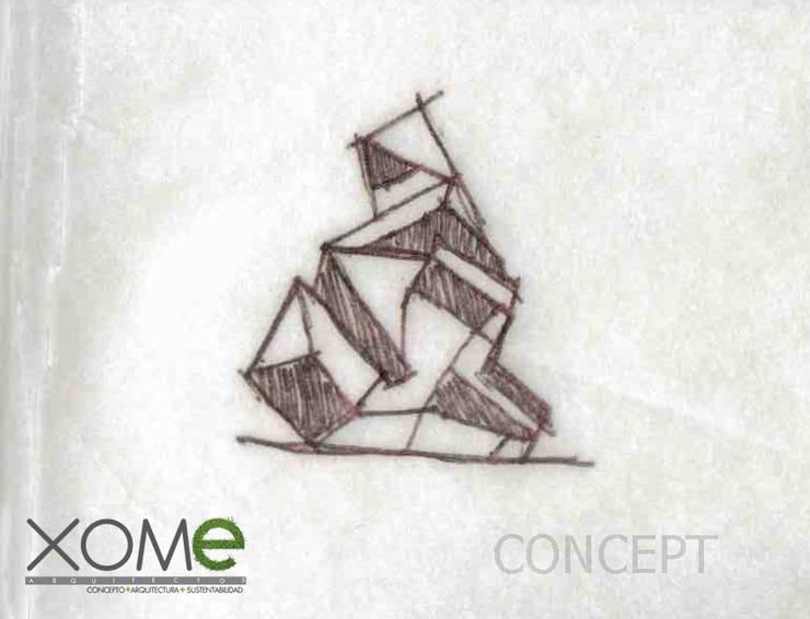 SNCE:  de estilo  por Xome Arquitectos