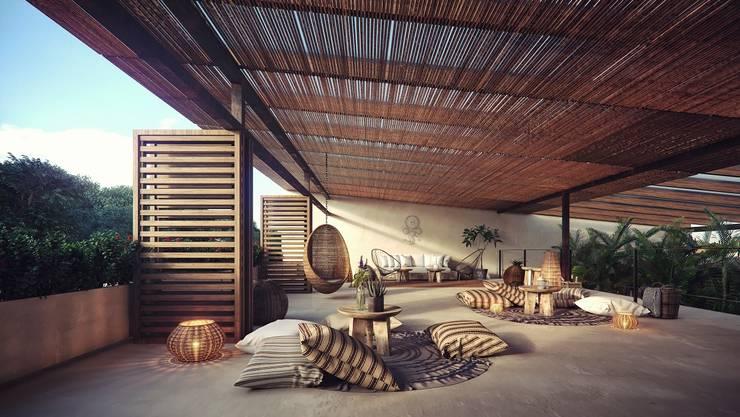Study/office by Construcciones del Carmen, Tropical