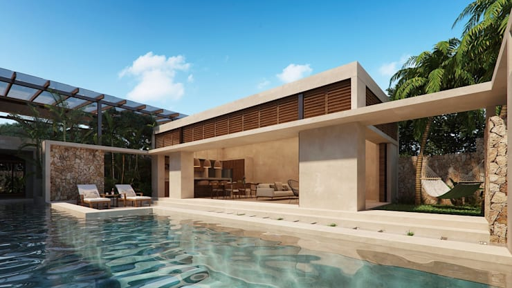 Pool by Construcciones del Carmen, Tropical