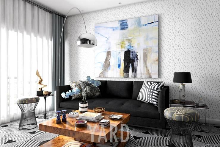 Living area:  ตกแต่งภายใน by studio yard