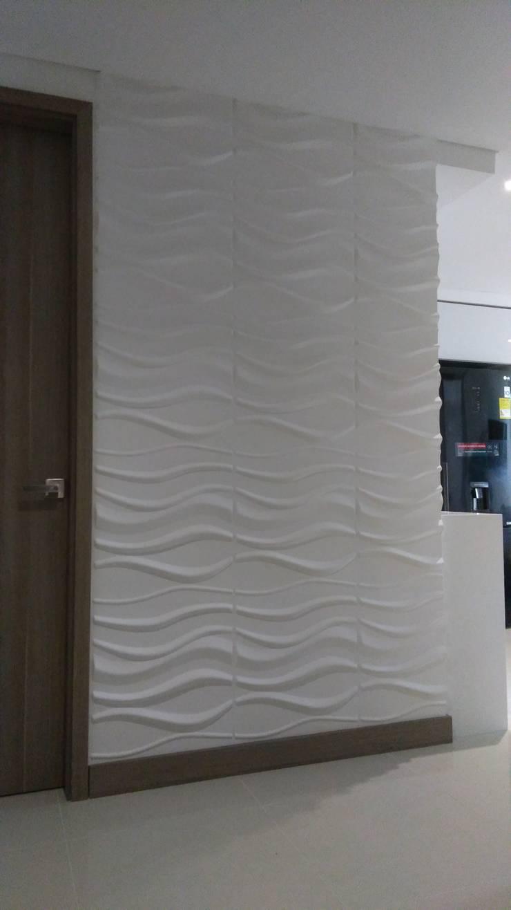 Paneles 3D Miraflores Paredes y pisos de estilo moderno de Flap deco Moderno
