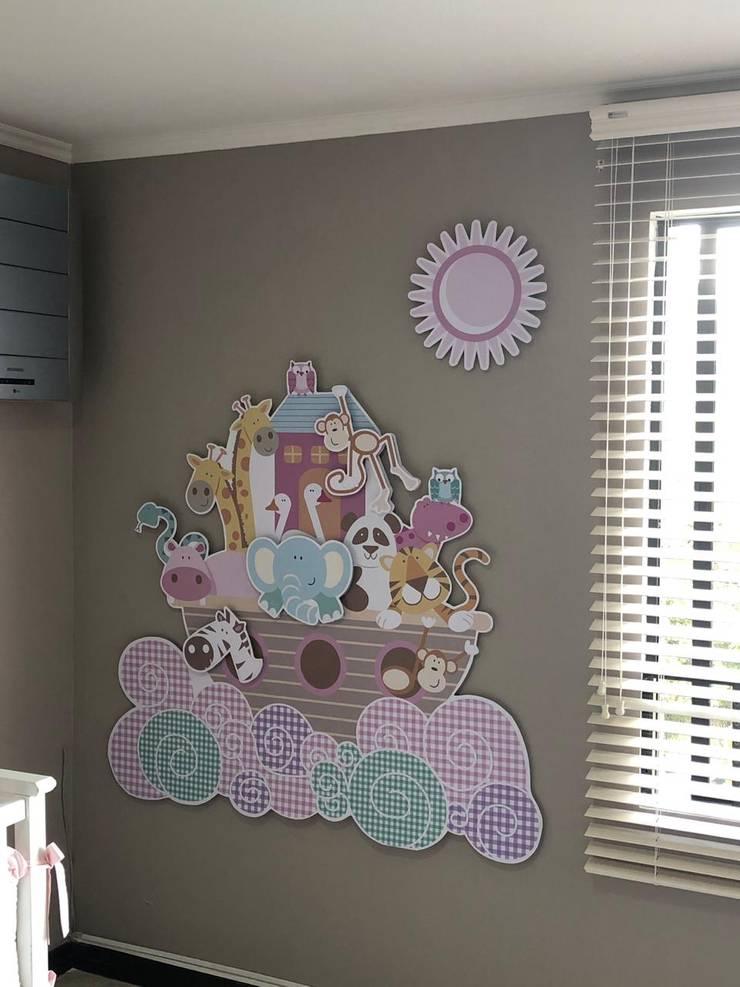 Vinilo flotante Habitaciones para niños de estilo ecléctico de Flap deco Ecléctico