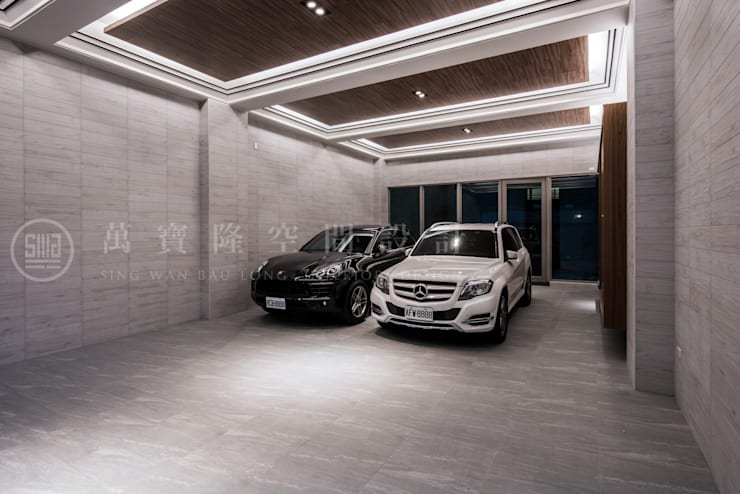 大隆建設/海灣Villa CEO會館2-碧海達觀:  雙車庫 by SING萬寶隆空間設計