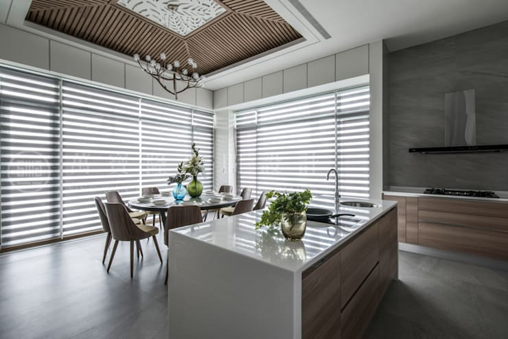 大隆建設/海灣Villa CEO會館2-碧海達觀:  餐廳 by SING萬寶隆空間設計