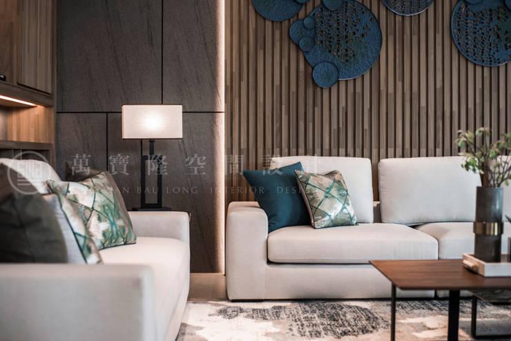 大隆建設/海灣Villa CEO會館2-碧海達觀:  客廳 by SING萬寶隆空間設計