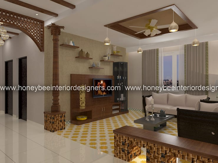 Living room by Honeybee Interior Designers