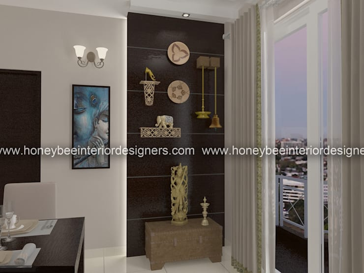 Dining room by Honeybee Interior Designers
