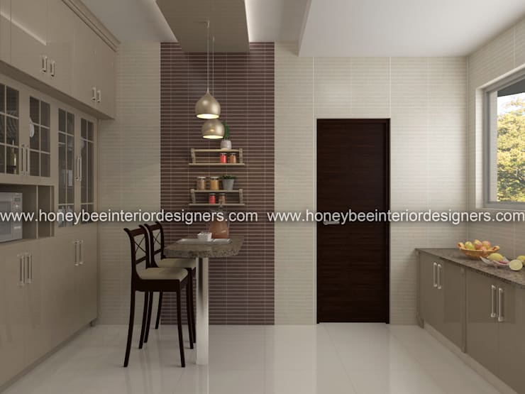 Kitchen by Honeybee Interior Designers