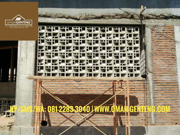 HP/WA: 08122833040 - Roster Beton Yogyakarta - Omah Genteng: Ruang Komersial oleh Omah Genteng, Minimalis Beton