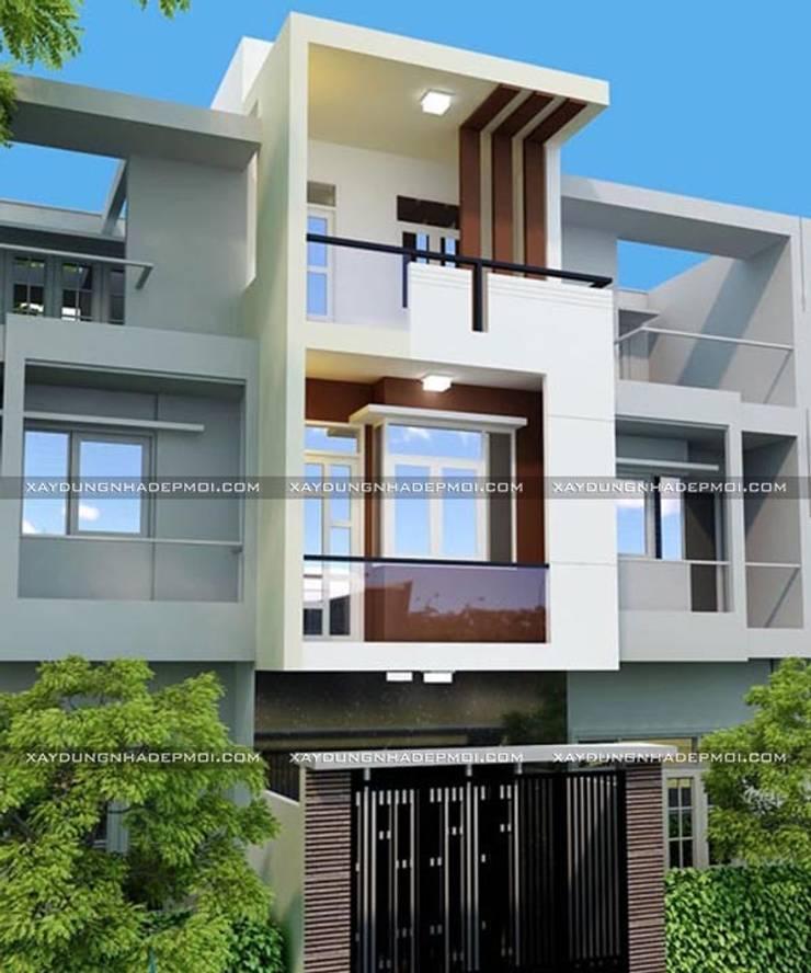 Những mẫu mặt tiền nhà ống đẹp 3 tầng hiện đại:   by Công ty xây dựng nhà đẹp mới