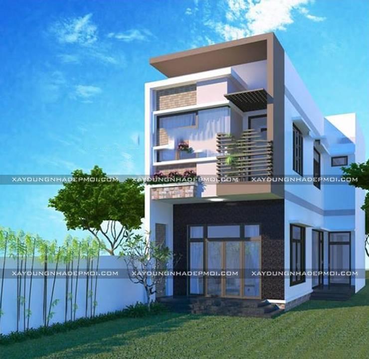 Các mẫu mặt tiền nhà ống 2 tầng đẹp:   by Công ty xây dựng nhà đẹp mới