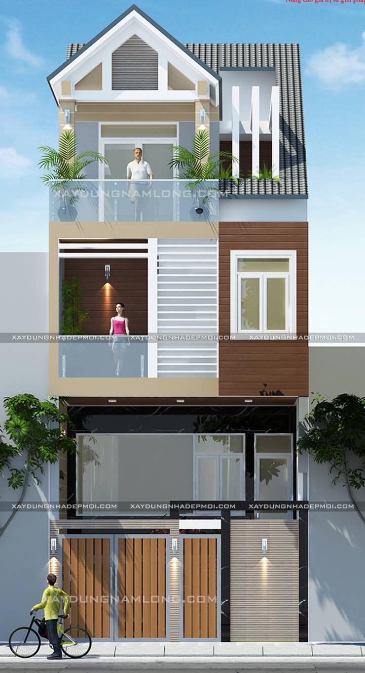 Những mẫu mặt tiền nhà ống - nhà lô phố đẹp:   by Công ty xây dựng nhà đẹp mới