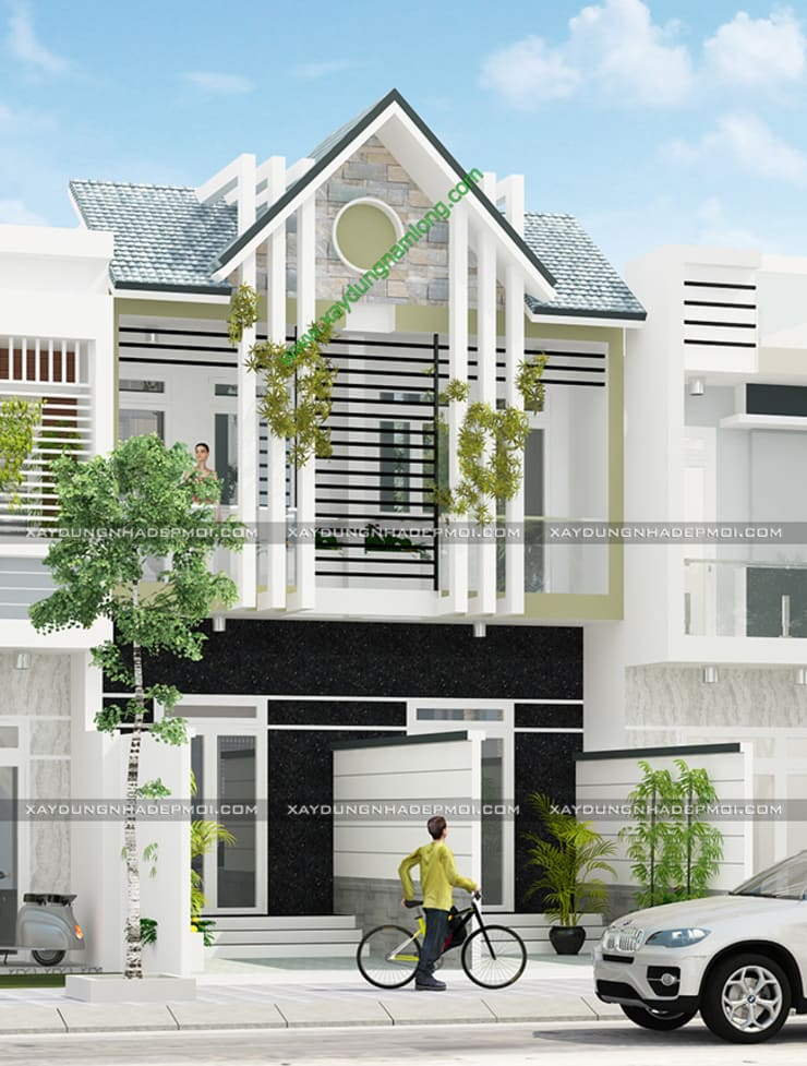 Những mẫu mặt tiền nhà ống – nhà lô phố đẹp:   by Công ty xây dựng nhà đẹp mới