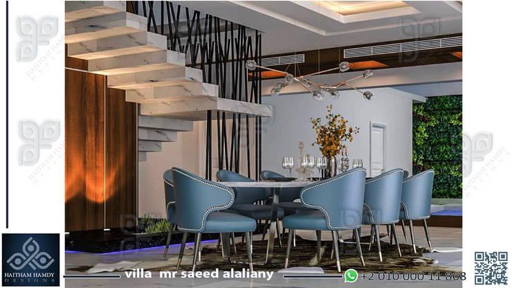 السعودية:  غرفة السفرة تنفيذ UTOPIA DESIGNS AND CONSTRUCTION, تبسيطي