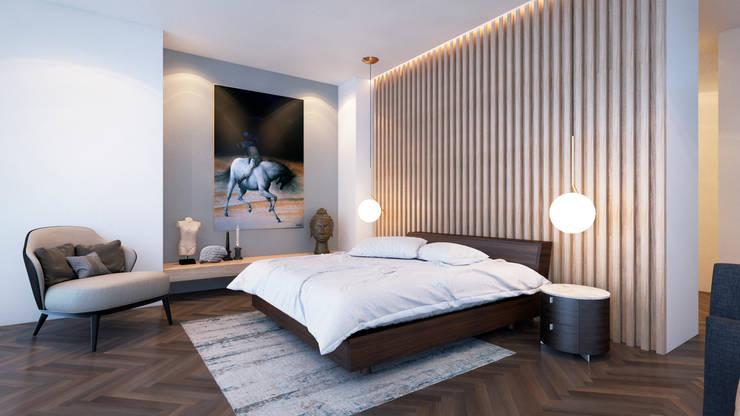 ALCOBA PRINCIPAL: Dormitorios de estilo  por M3DRANO