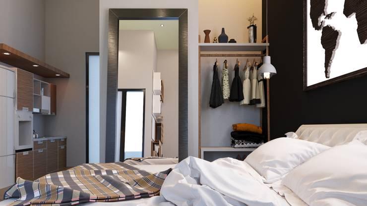 apartemen tipe studio:  Kamar tidur kecil by NK studio